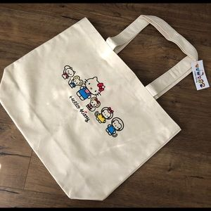HELLO KITTY-NWT Large Canvas TOTE
